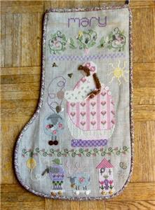 marys stocking cross stitch pattern