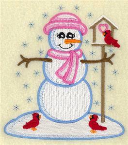 Vintage Snowman with Birdhouse