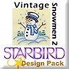 Vintage Snowmen 2 Design Pack