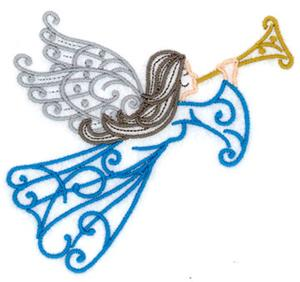 Angel Filigree With Horn 2
