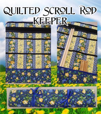 EZ Stitch Quilted Scroll Rod Keeper