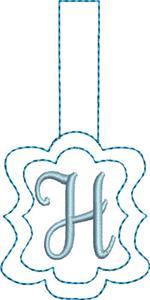 Monogrammed Keyfob Letter H