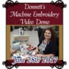 Image of Machine Embroidery Demo July 28th
