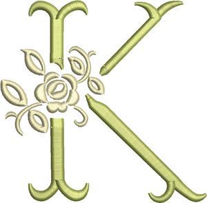 Tuscan Rose Monogram 3 inch K