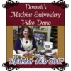Image of Machine Embroidery Demo September 25th