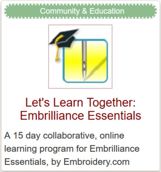Let's Learn Embrilliance Essentials