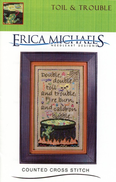 Toil Trouble Cross Stitch Pattern Embroidery Patterns By Erica