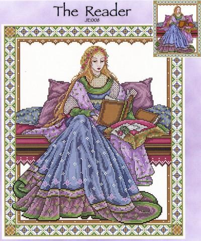 The Reader Cross Stitch Pattern
