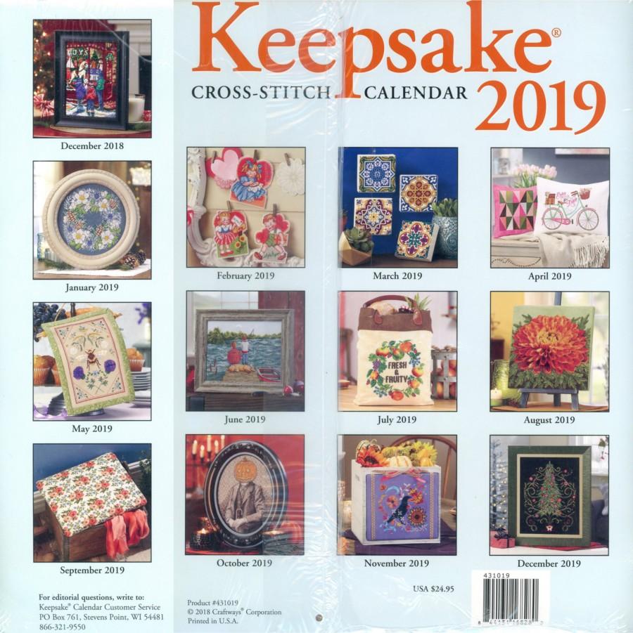 Keepsake Cross Stitch Calendar 2021 Pictures