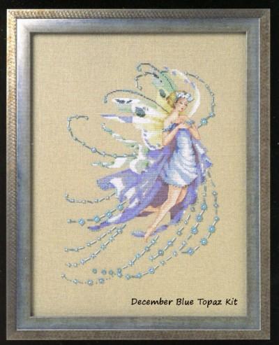 December Blue Topaz Cross Stitch Kit