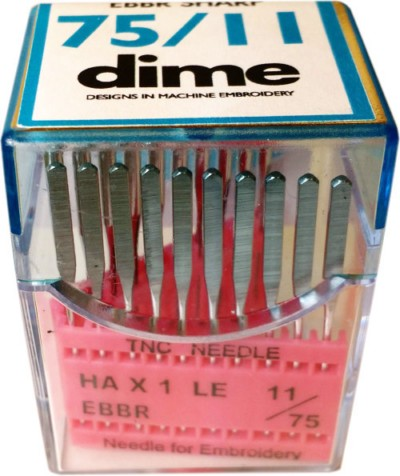 DIME Home Embroidery Needles 75/11 Sharp Point / 20 Count