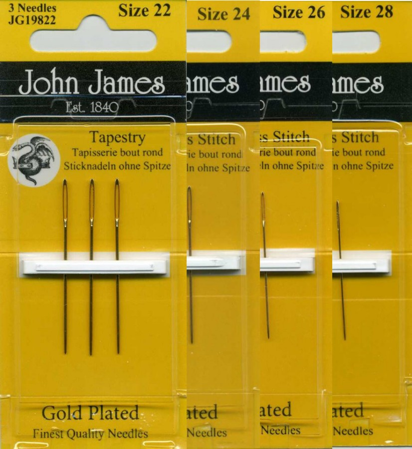 Sharp Point John James Short Length Size 10-6 Count Bead Embroidery Hand Needles