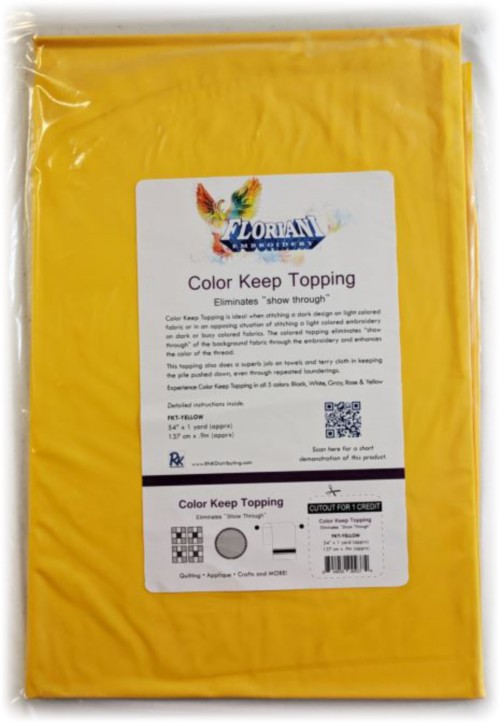 """Floriani Color Keep Topping - 54"""" x 1 yd / Yellow"""
