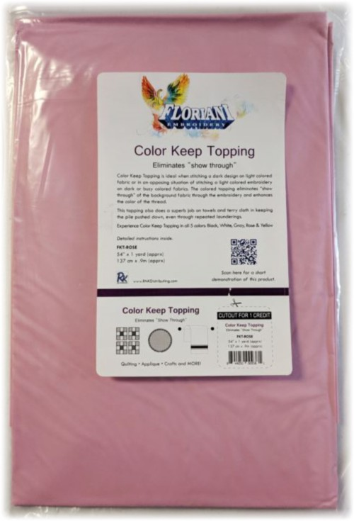 """Floriani Color Keep Topping - 54"""" x 1 yd / Rose"""