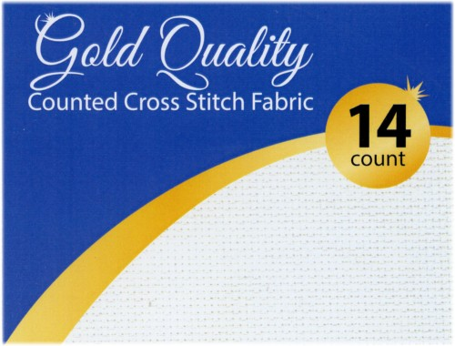 Design Works Gold Quality Aida 14 Count 20X30-Black