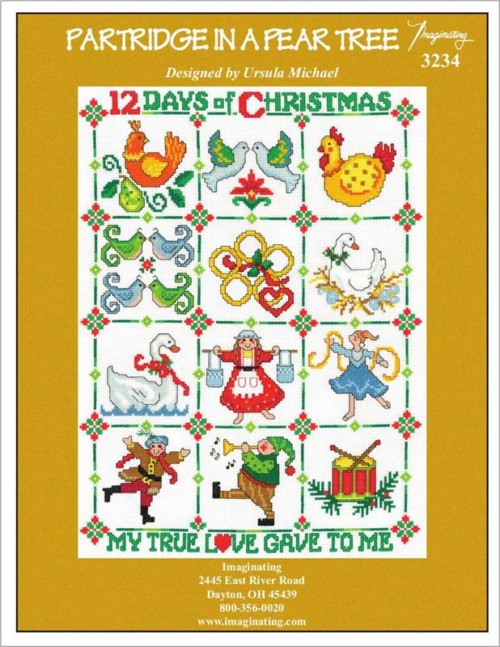 12 Days of Christmas Ornaments cross stitch pattern leaflet