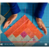 Image of Eileen centers quilt block with Pal