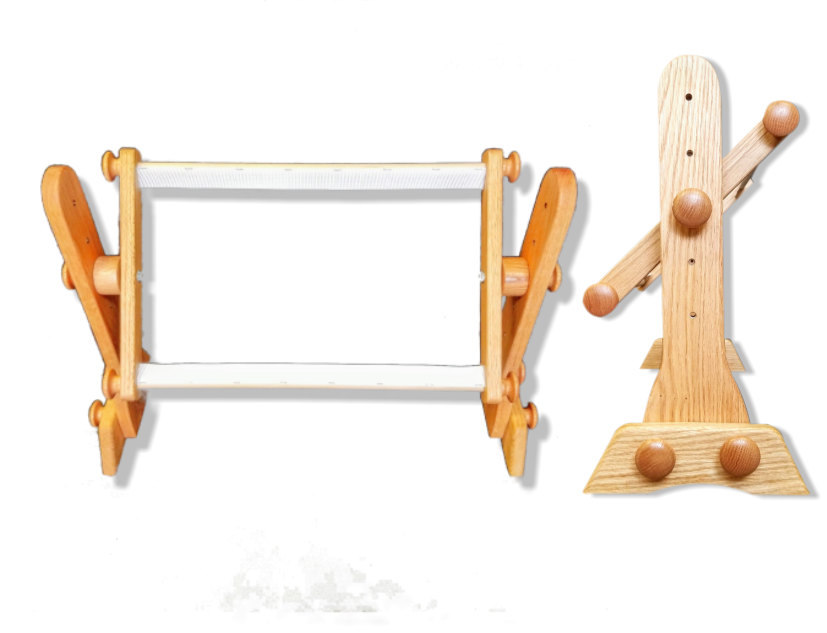Tomorrow's Treasures Lap Stand Frame Set Front and Side Views