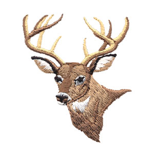 Deer Head Embroidery Design By Ez Embroidery