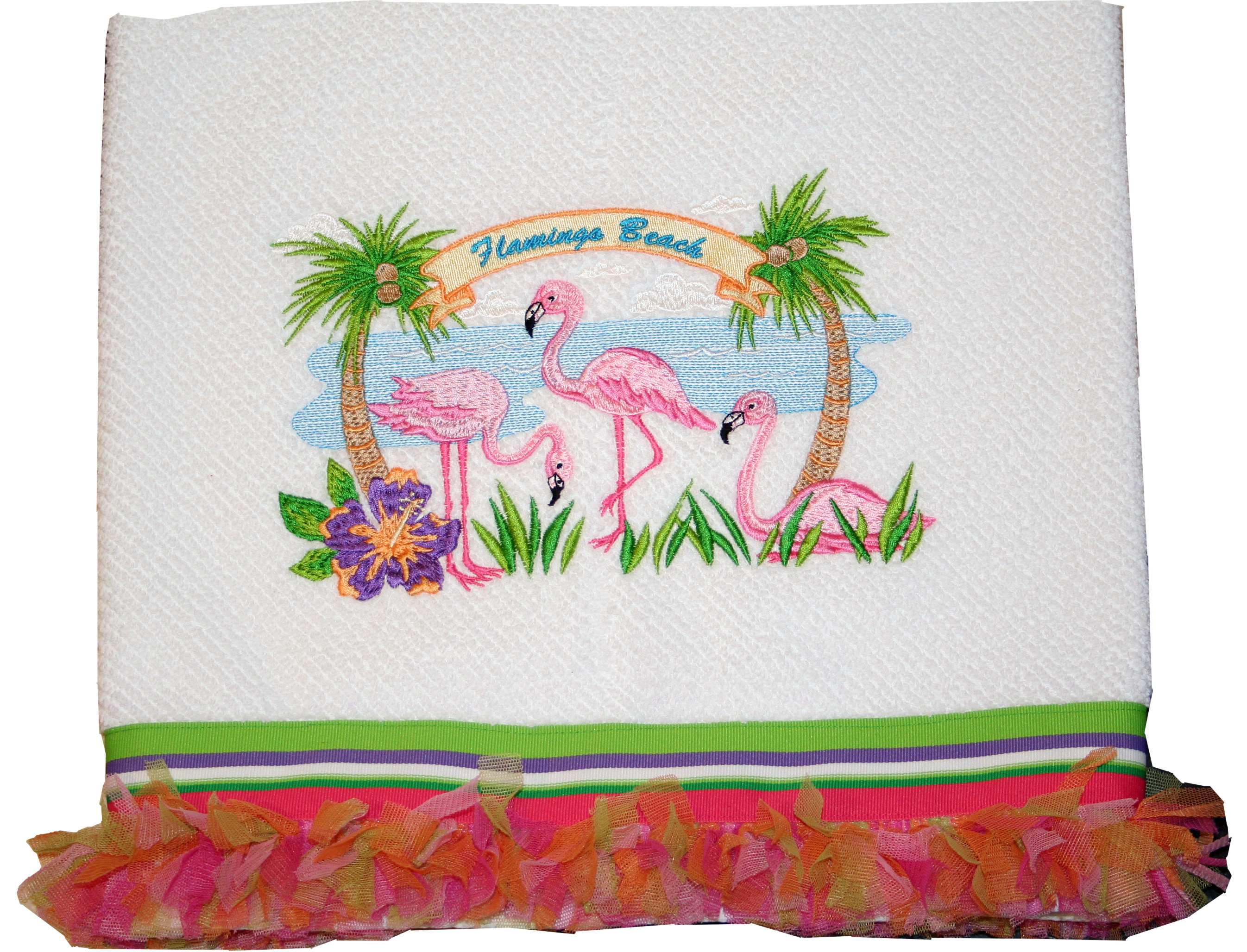 Flamingo beach design pack embroidery design collection by for Beach house embroidery design