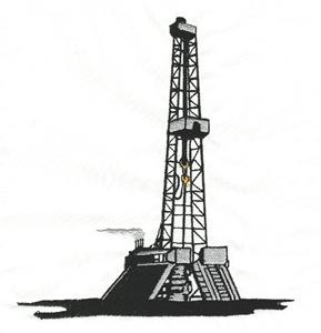 Large Drilling Rig Embroidery Design by Country Design