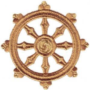 Buddhism Symbol ( Dharma Wheel ) (RG165) Embroidery Design by ...