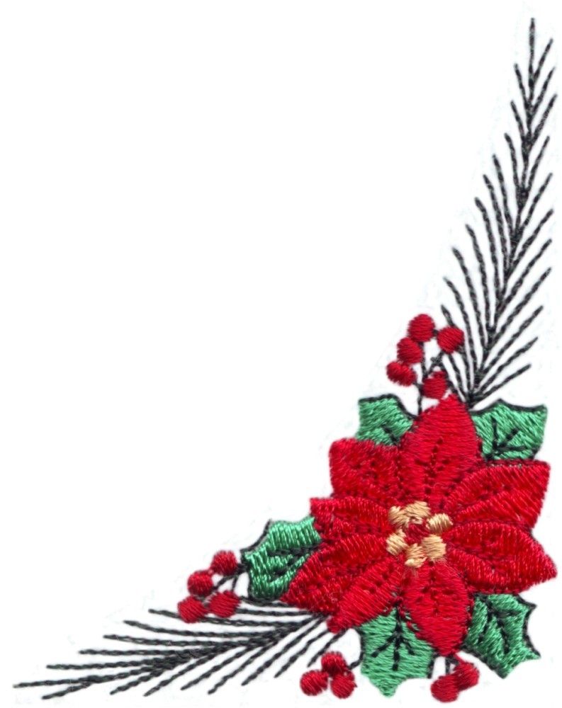 Quilting Border Embroidery Designs : Winter Season Quilting Corner ( without border ) (QU023) Embroidery Design by Stitchitize