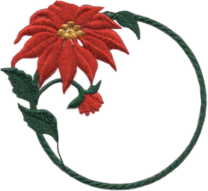 Creative Quilting Embroideries Charming Poinsettias Embroidery