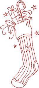 Christmas Redwork 12