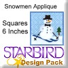 "Snowmen Applique Squares 6"" Design Pack"