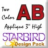 "2 Color Applique 3"" High Design Pack"