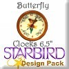 "Butterfly Clocks 6 1/2"" Design Pack"