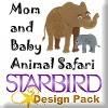 Mom and Baby Animal Safari Design Pack