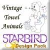 Vintage Towel Animals Design Pack