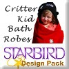 Critter Kids Bathrobes Design Pack