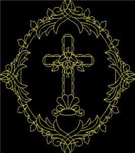 Oval Framed Cross #7 / Larger