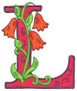 letter l design flower letter l embroidery design by glenn harris designs 22898 | 885127