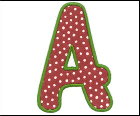 image about Free Printable Alphabet Templates for Applique identified as Letter templates for applique