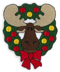 Christmas Wreath Moose