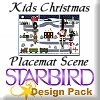 Kids Christmas Placemat Scene