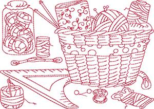 Antique Sewing Machine / Quilt Block 7