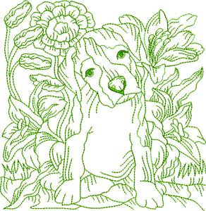Garden Party Greenwork / Block 2 Large