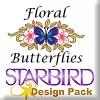 Floral Butterflies Design Pack