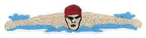Metallic Sports Swimming Guy