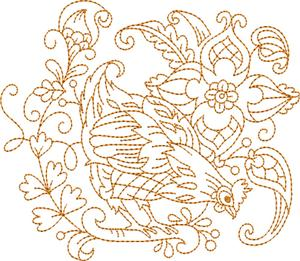 Flowers & Hens 1 / Medium