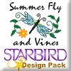 Summer Fly and Vines Design Pack