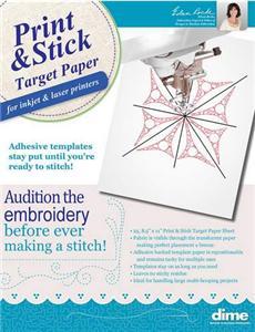 Print & Stick Target Paper