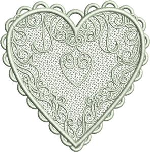 Free Standing Lace Heart 2