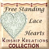 Free Standing Lace Hearts