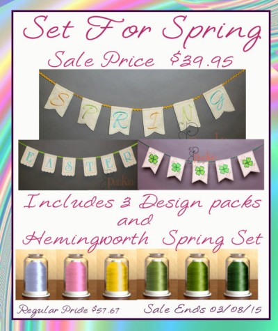 Set for Spring Hemingworth 6 Color Set / Set for Spring with Spring Banners